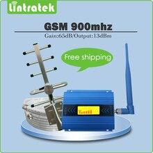 GSM 900 mhz Répéteur de Signal Gain 65dB 2G GSM 900 MHz Mobile Signal Booster Amplificateur ensemble complet avec Yagi/antenne fouet + 10 m câbles