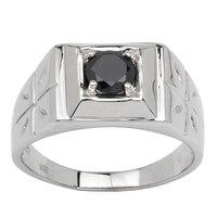 רודיום ציפוי גברים של טבעת כסף מוצקה 925 6.0 מ