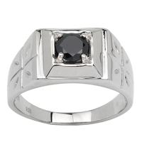 Green Emerald Platium Plated Men S 925 Solid Silver Ring Custom Sizes Xtra Small Large Sizes