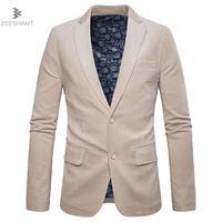 ZEESHANT Blazer Männer 2018 Cord Baumwolle Busines Männer Blazer Anzug Jacke Slim Fit Homens Blazer Herren Freizeitkleidung Marke Mantel