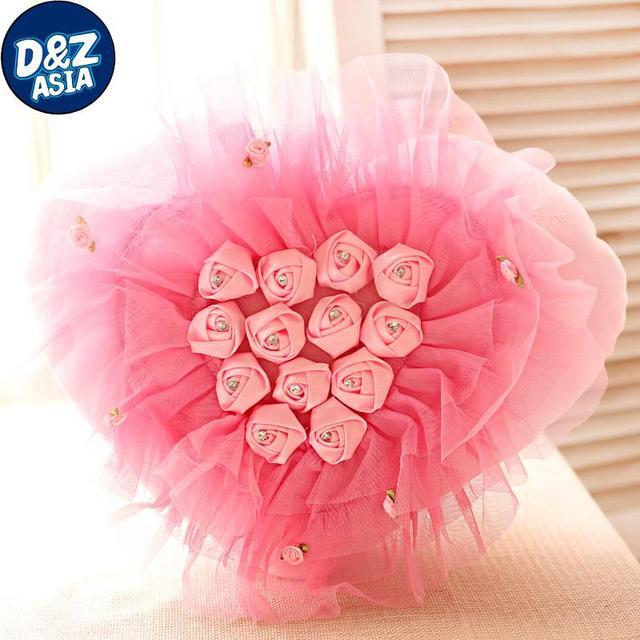 Chiffon diamante amantes amor rosas criativo almofada e travesseiro presente do Dia Dos Namorados Festival Qixi