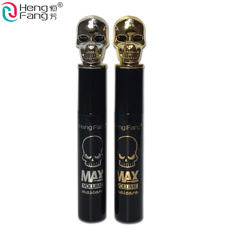 HengFang Brand Ink Black Mscara Makeup Skull Shape MAX Colossal Lengthening Cilia Waterproof Curling Mascaras Thick Cosmetics