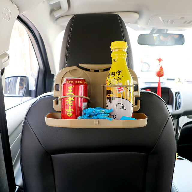 Hot Selling Car Folding Table Cup Holder Back Seat Stand Desk Auto