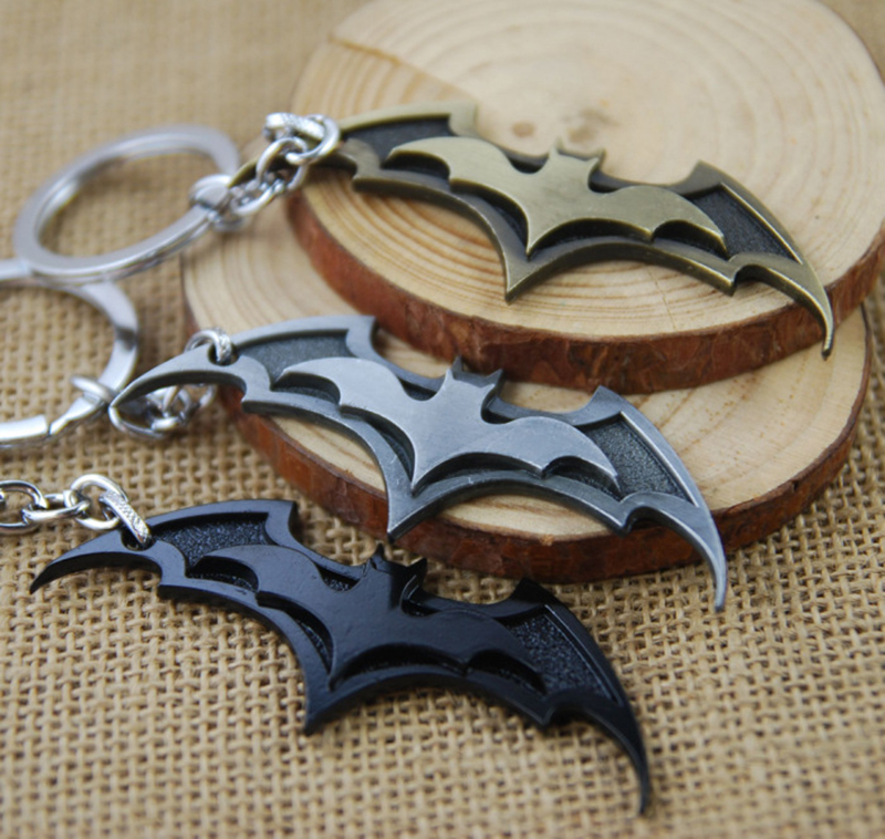 Bat Man Movie Theme Metal Keychains Batman Movie Jewelry Key Chains Comic Figure Pendant Accessories Key Gift New image
