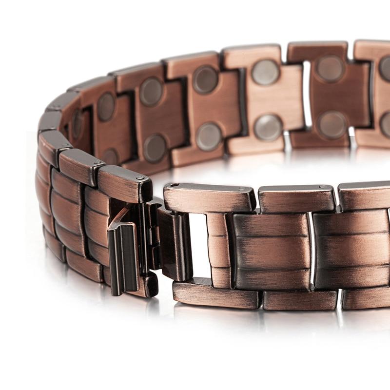RainSo Red Copper Magnetic Bracelet para Hombres Mujeres Imán de 2 - Bisutería - foto 2