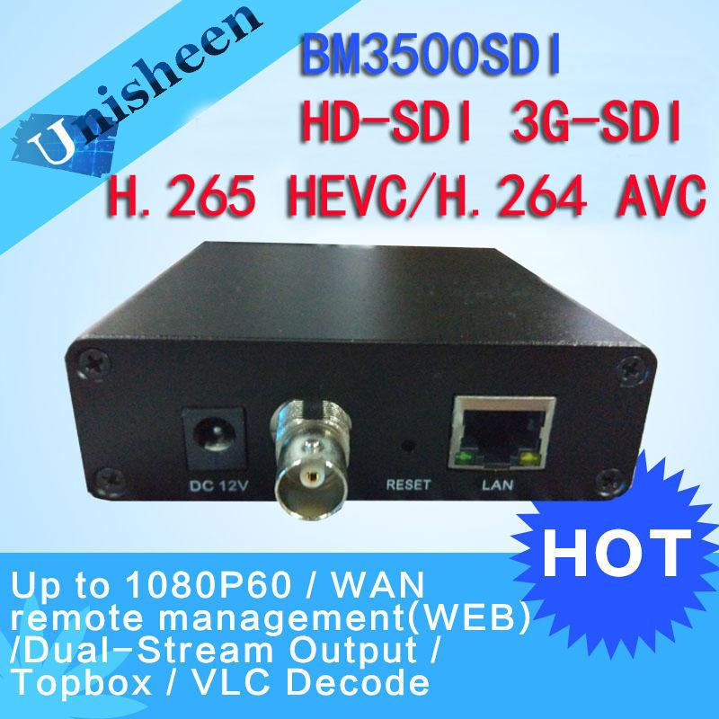 Prix pour H.265 HEVC MPEG-4 AVC/H.264 HD SDI Encodeur Vidéo 3G-SDI Émetteur Diffusion en direct codeur sans fil iptv encodeur H264
