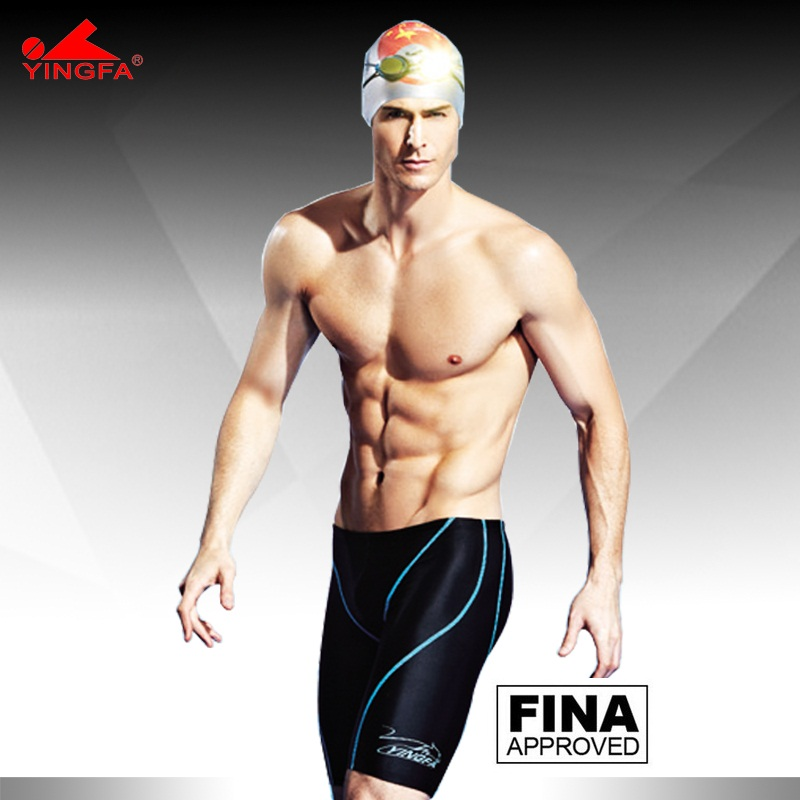 af67cd82cf6f Yingfa FINA aprobado a prueba de agua, resistente al cloro carreras hombres  natación jammer hombres traje de baño natación troncos