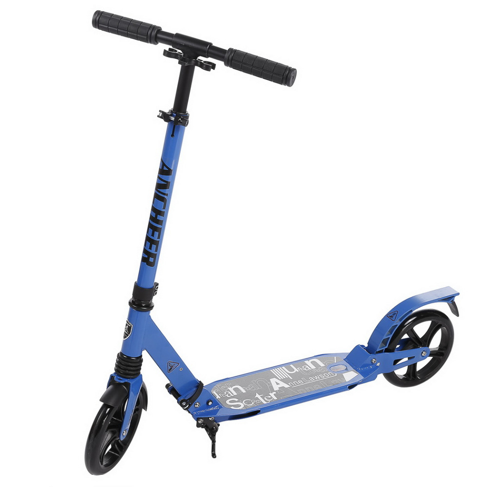 Ancheer HOT New Adult Foldable Adjustable Kick Scooter Foldable Height Adjustable Foot Kick Scooter Patinete Adulto Clearance