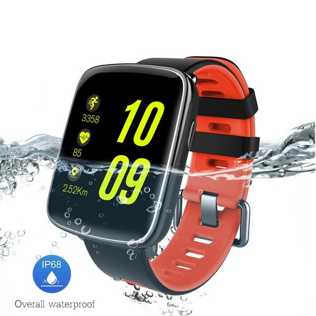 Smarcent GV68 Смарт-часы IP68 Водонепроницаемый MTK2502 Bluetooth 4.0 SmartWatch Носимых устройств монитор сердечного ритма для iPhone Android