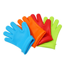 1PC Gloves Silicone Kithen Oven Mitt Heat Holder Pot Holder Cooking Tools Slip-resistant Home Barbecue BBQ kitchen Accessories