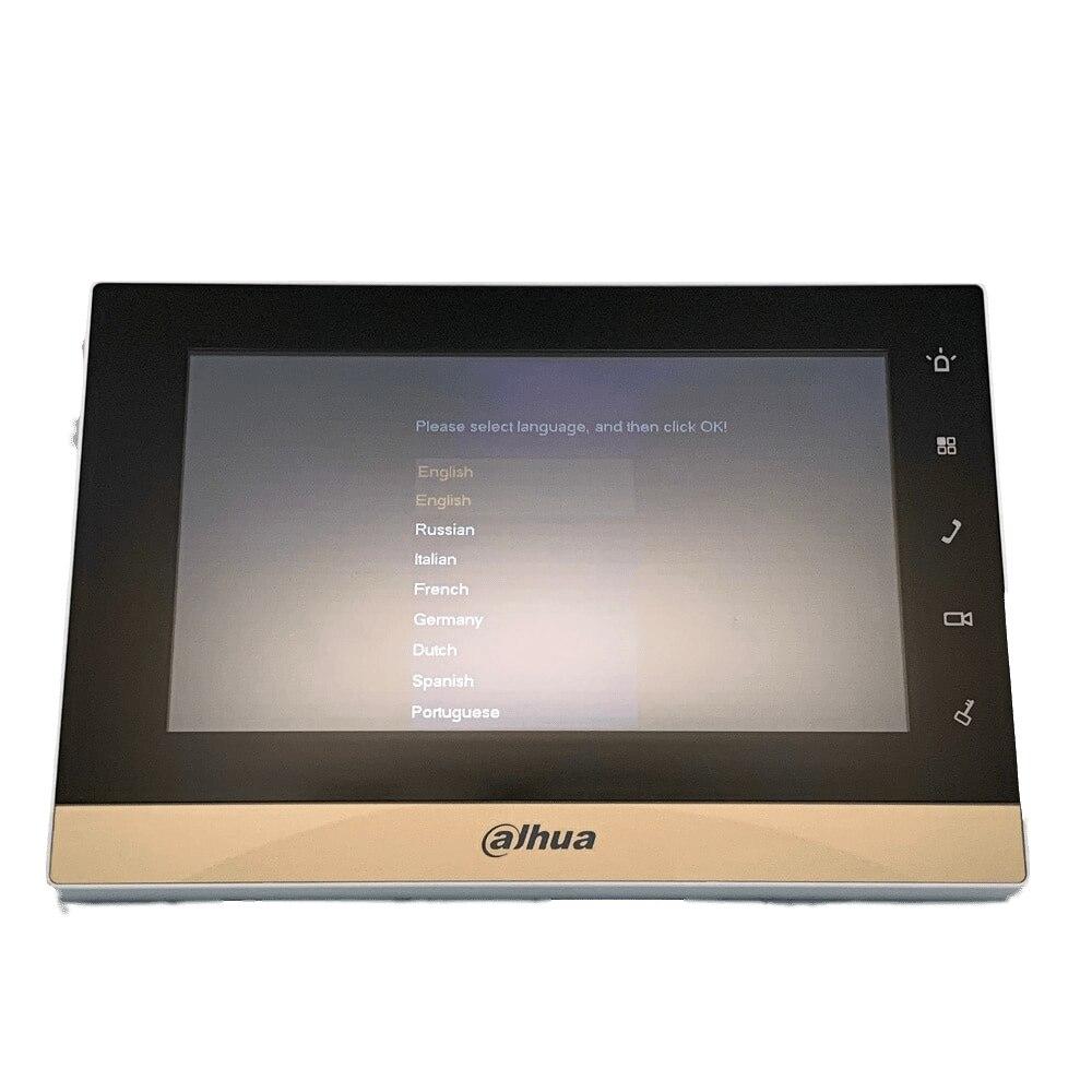 AHUA многоязычный VTH1550CH видеодомофон сенсорный экран цветной монитор видеонаблюдения
