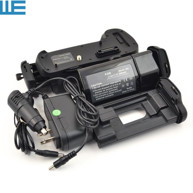 MB-D12 Battery Grip + EN-EL18A EN-EL18 Battery+ EN-EL18A Charger For Nikon D800 D800E D810 Digital SLR Cameras.