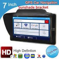 Navegador gps con bluetooth para coche, pantalla capacitiva de 7 pulgadas, 800x480, avin, DDR, 256M, 8GB, FM, windows, wince, CE 6,0