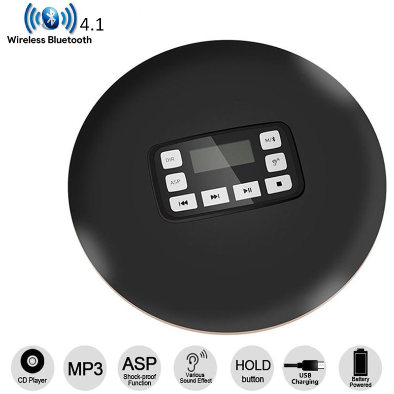 2018 HOTT Bluetooth4.1CD Player with LED Display Jack Anti-Skip Protection Anti-Shock Personal Portable CD Music Disc Player2018 HOTT Bluetooth4.1CD Player with LED Display Jack Anti-Skip Protection Anti-Shock Personal Portable CD Music Disc Player