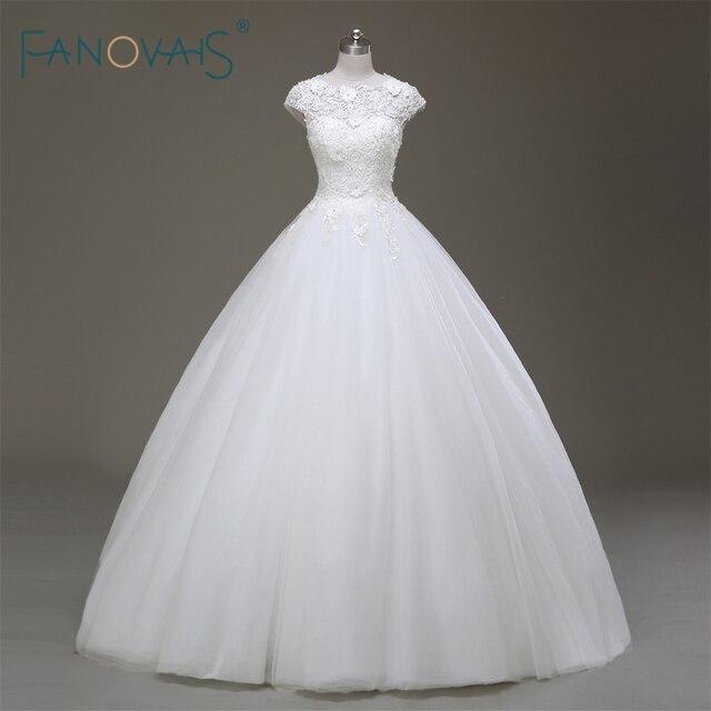 Klassischen Stil Simple White Braut Brautkleider Flügelärmeln ...