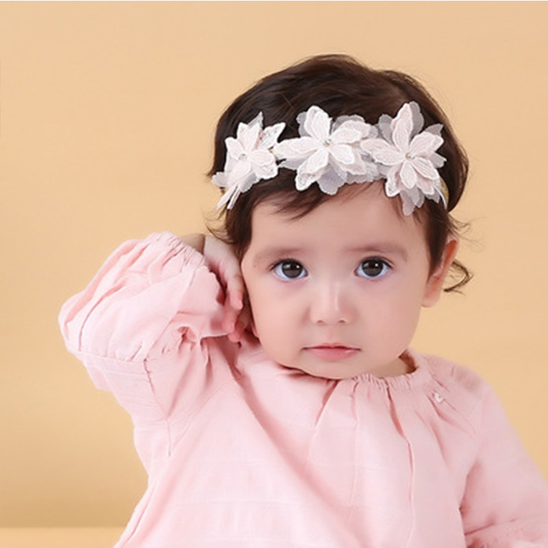 1pc/lot Lovely Flower Bowknot Elastic Head Bands For Baby Girls Headband For Children Baby Accessories Hair Set