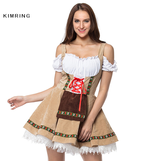 92c8068ce1d1bb Kimring Sexy German Beer Girl Costume Adult Women Maid Wench Fancy Dress  Cosplay Sexy Costume Masquerade Party Halloween Costume