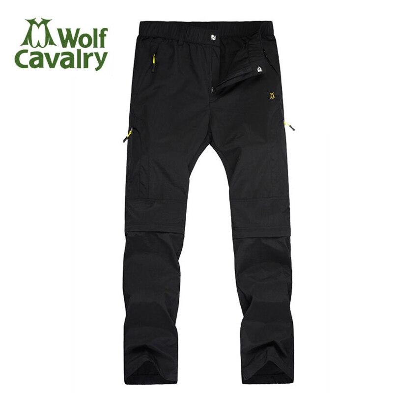 Prix pour Cavalrywolf printemps été en plein air de randonnée pantalon hommes femmes amovible camping pêche shorts à séchage rapide pantalon pantalon de randonnée