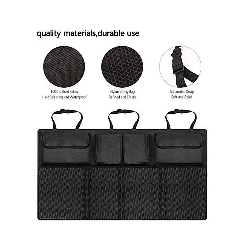 Car Trunk Organizer Large Capacity Adjustable Backseat Oxford Storage Bag Universal Automobile Seat Back Organizers Accessories
