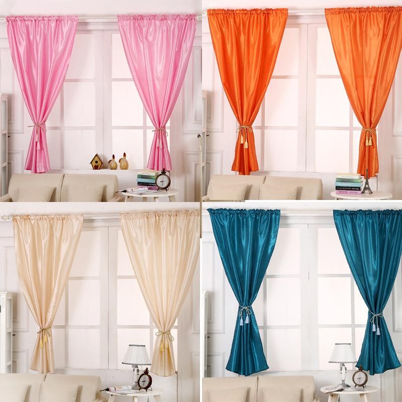 buy solid window blinds cloth short curtains blackout for cafe hotel bedroom. Black Bedroom Furniture Sets. Home Design Ideas