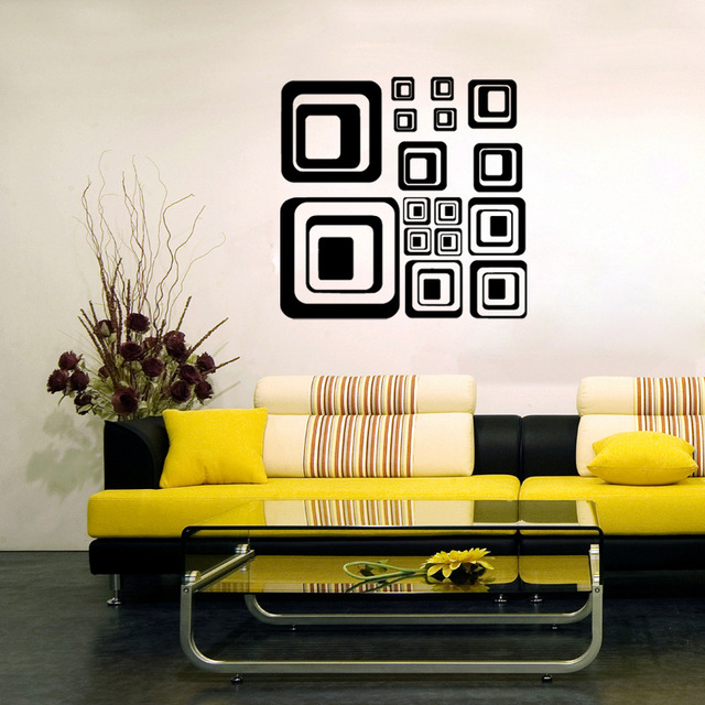 Personality box vinyl wall decal home decor living room bedroom art ...