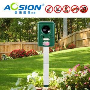 Image 4 - Бесплатная доставка AOSION уличные солнечные ультразвуковые управление животными для сада мигающие лисы летучие мыши птицы собаки репеллент