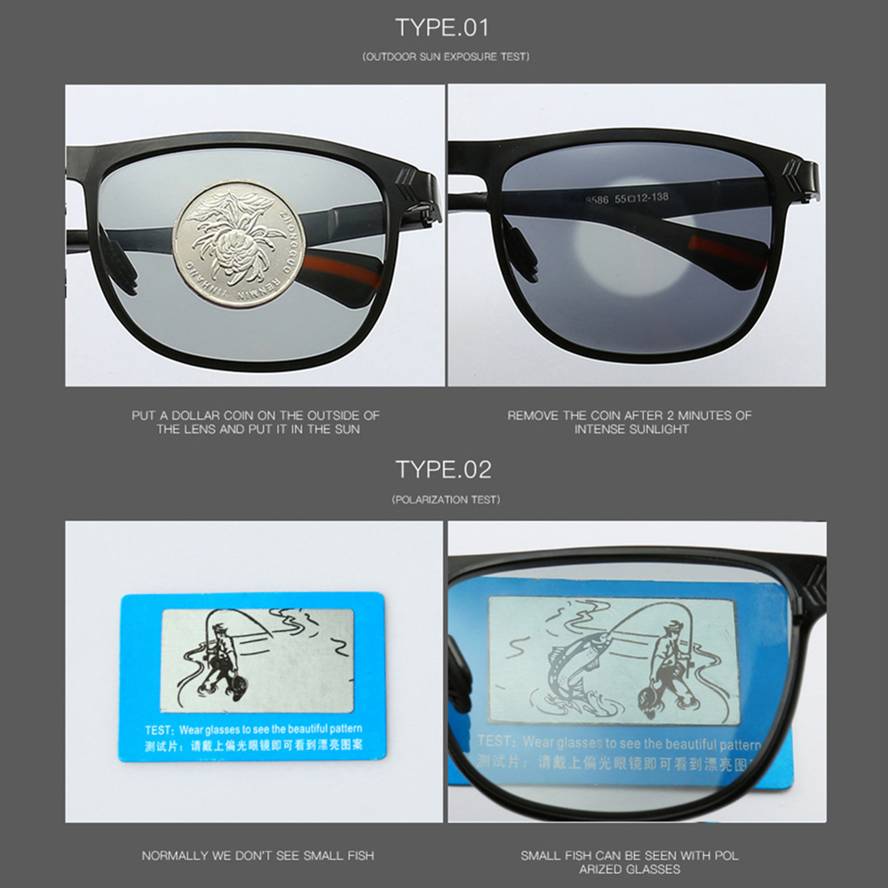 Купить с кэшбэком AIELBRO Photochromic Sunglasses Men Polarized Chameleon Glasses Male Change Color SunGlasses Day Night Vision Driving Eyewear