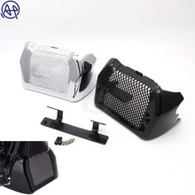 1pcs Motorcycle Glossy Black/Chrome ABS Oil Cooler Cover Plastic for Harley Touring FLHR FLHRX FLHX FLRT 17-up