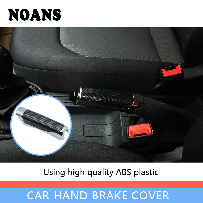 NOANS Car-styling Hand Brake Sticky Cover Accessories For Ford Focus 2 Mk2 Fiesta Ranger Fiat 500 Punto BMW E46 E39 E90 E60 E36