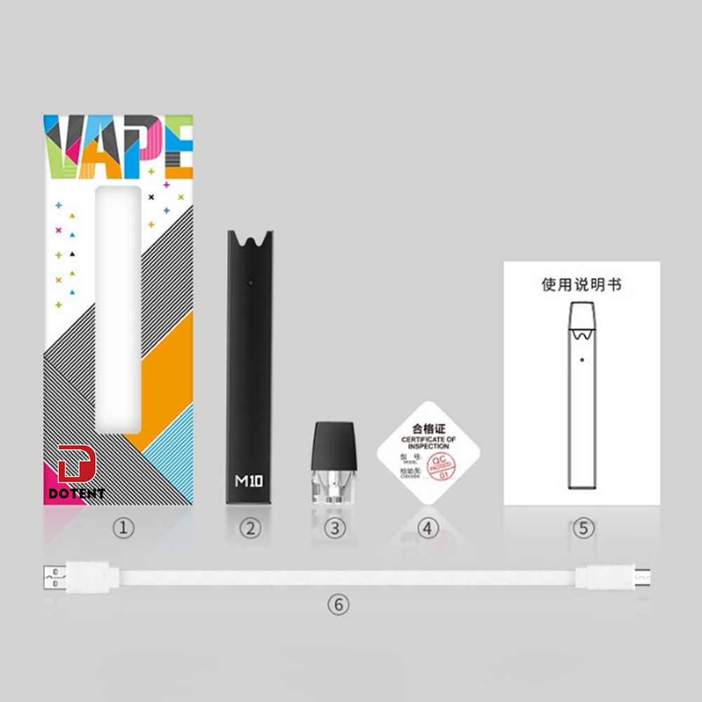 small resolution of  dotent m10 electronic cigarette vape pod 240mah built in battery led indicator automatic air sensing