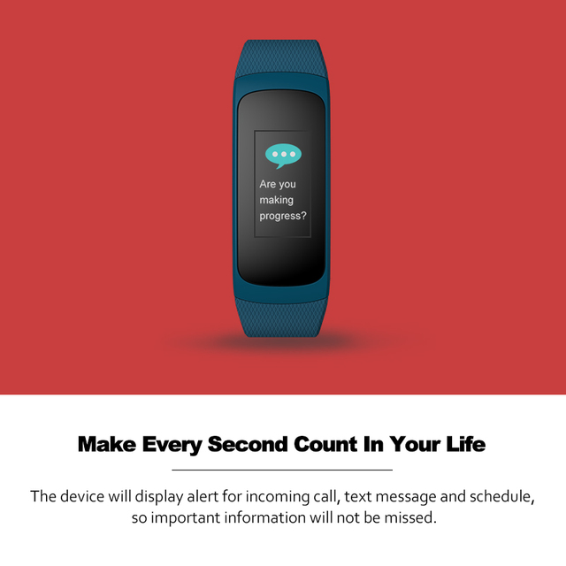 Zeblaze Plug C Continuous Heart Rate Smart Wristband Always-on Color Display Long Battery Life & Quick Recharge IP67 Wristband
