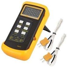 Цифровой термометр термопары k типа 1300C, профессиональный двухканальный зонд, промышленный измеритель температуры C/F/K, быстрое хранение данных