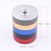 5pc Big Size 70*17mm Aluminum alloy watchmaker oil pot with lid watch cylinder