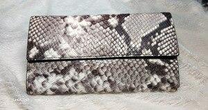 Кошелек из натуральной кожи, Женский Длинный кошелек со змеей, держатель для карт, кошелек для паспорта, сумка для телефона, клатч billetera