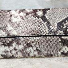 Genuine Leather Wallet Women Snake Long Wallets