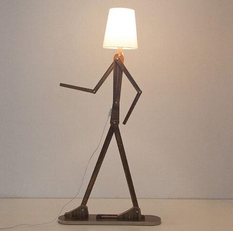 criativo diy lampadas de assoalho madeira nordic