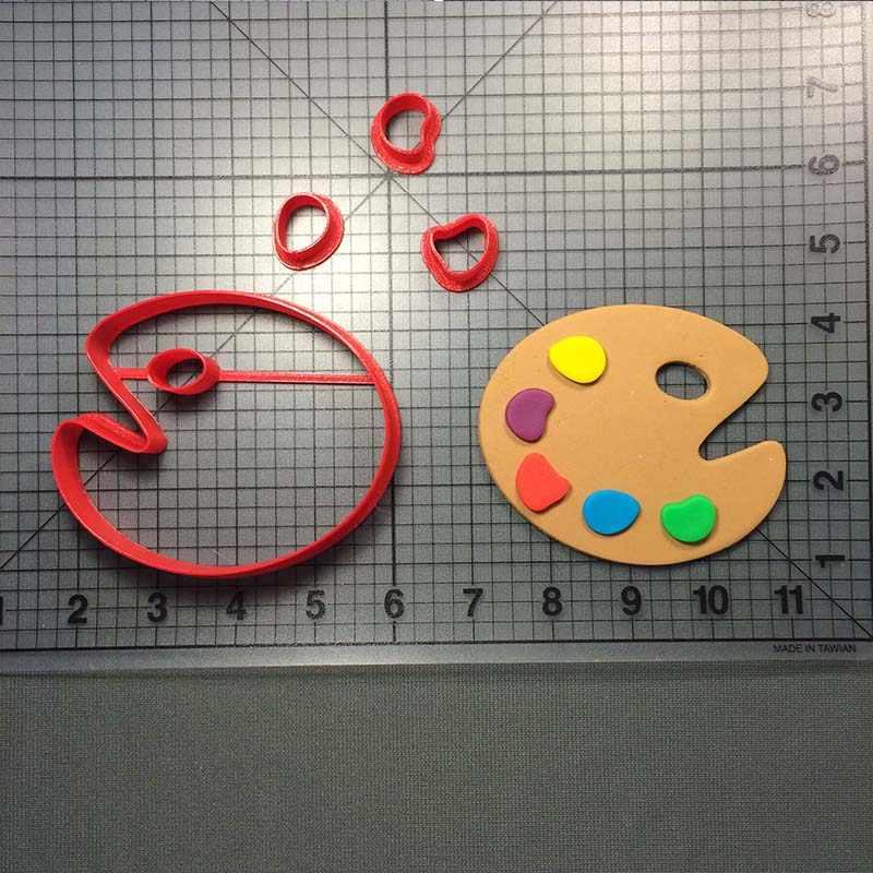 Pinte a Série Cortadores de Biscoito Personalizado Feito 3D Impresso Fondant Decoração Do Bolo Cookie Cutter Set Paleta Easle Escova Cortadores de Bolo