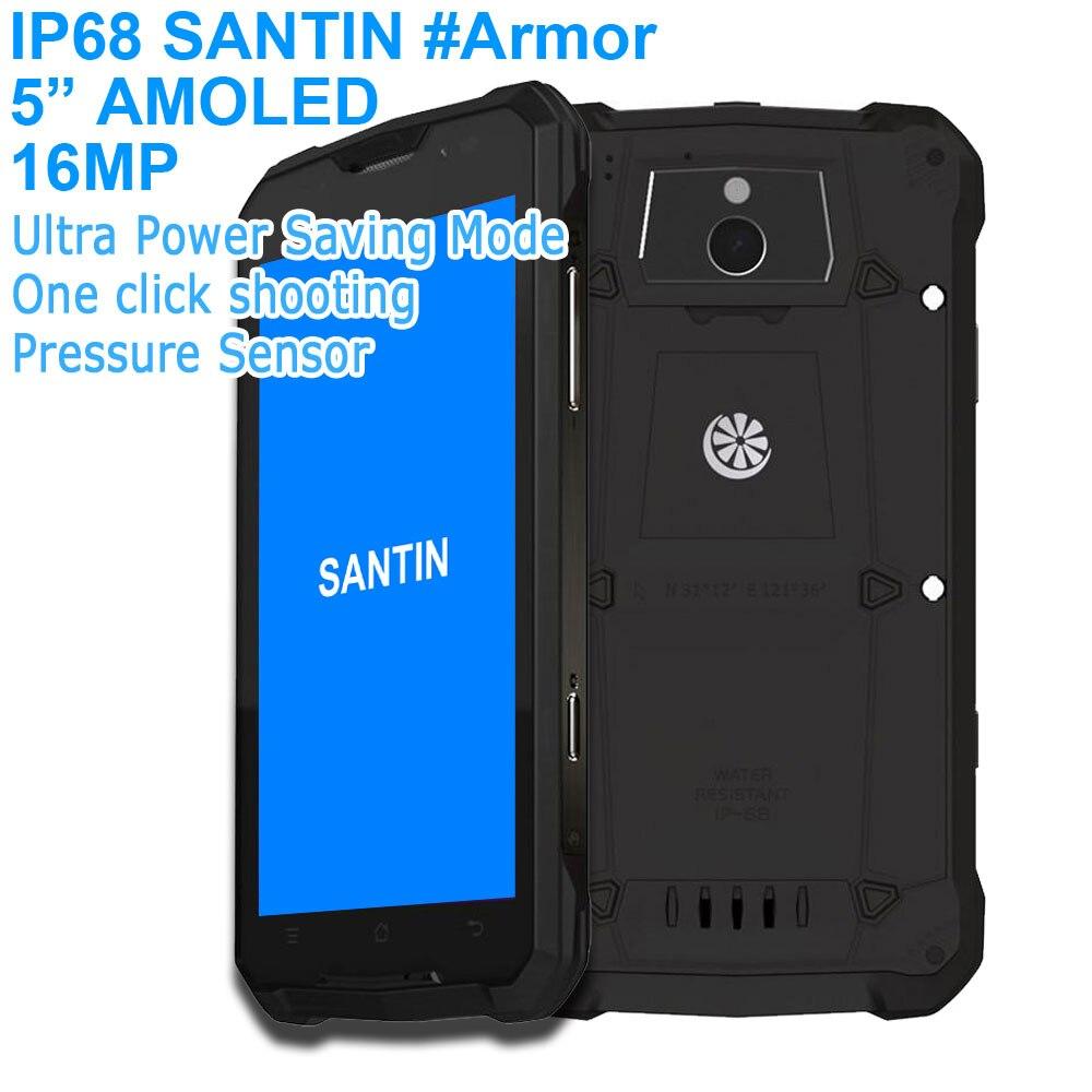 IP68 phone Waterproof SANTIN Armor Plus 5 AMOLED screen 16MP Octa Core phone shockproof 16GB Rugged