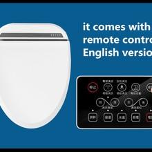 Интеллектуальное сиденье на унитаз с подогревом, дистанционное управление, умное биде, унитаз, туалет, автоматическая крышка туалета, Женская крышка
