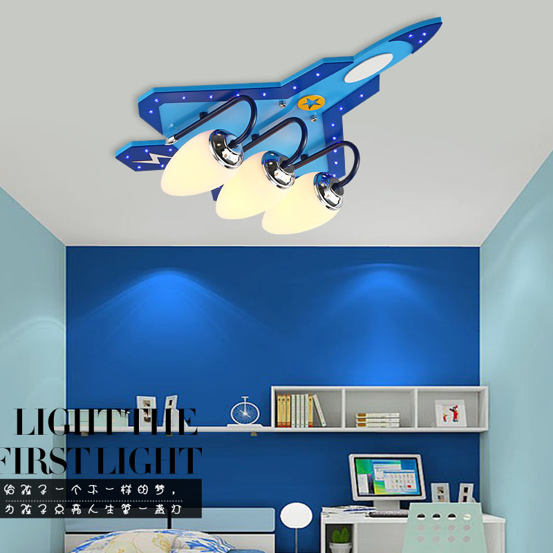 Lights & Lighting Collection Here Creative Childrens Room Lamp Bedroom Lamp Cartoon Airplane Baby Boy Kindergarten Room Ceiling Lighting Eye Latest Technology
