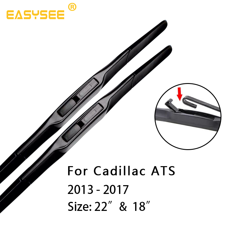 Car Windscreen Windshield Wiper Blades for Cadillac ATS Fit hook Arms 22