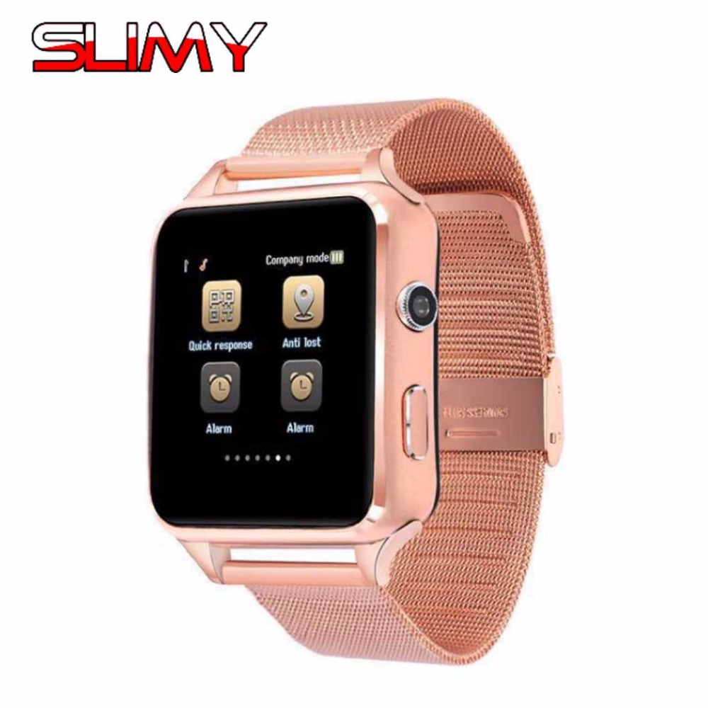 Slimy X6 Bluetooth Smart Watch Smartwatch Sports Watch Curved Screen Clock Support Camera FM SIM Card for Huawei Android Phone