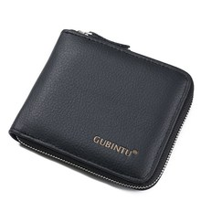 цена на Men Wallet Male Zipper Purse Coin Pocket Short Male Purse Business Brand Wallets for men Card Holder Genuine Leather Men's Purse