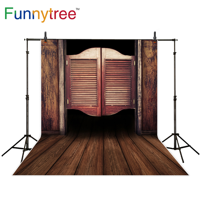 Funnytree backdrop for photo studio old western cowboy wooden swinging saloon door background photocall photobooth photo  sc 1 st  AliExpress.com & Funnytree backdrop for photo studio old western cowboy wooden ...