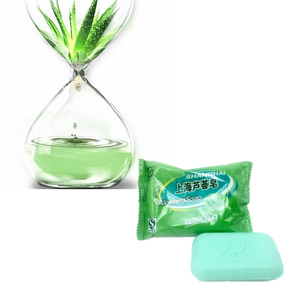 ALOEVERA Bacteria Removing Soap 85g Anti Bacterial Mites Acne Rosacea Oil Control Face Antibacterial Anti-Acne Soap
