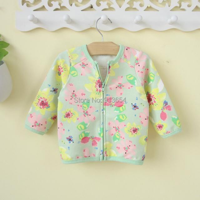 Novo 2015 primavera outono roupas de criança infantil casacos meninas casaco cardigan princesa impressão crianças flores outerwear