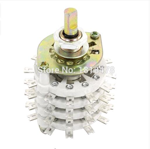 KCT 4P11T 4 Pole 11 Throw Ceramic Band Channel Rotary Switch Selector type rs ceramic band switch a knife 4 files