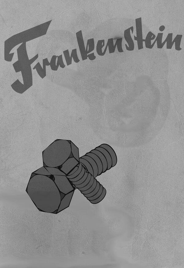 VINTAGE THE BRIDE OF FRANKENSTEIN MOVIE POSTER A4 PRINT