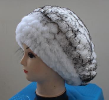 Linhaoshengyue-Rabbit-Fur-Cap-Elegant-Beret-Freeshopping