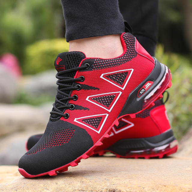 2018 four seasons Hiking Shoes for man adults Outdoor athletics male sneakers Breathable Trekking Mountain sports Climbing Shoes